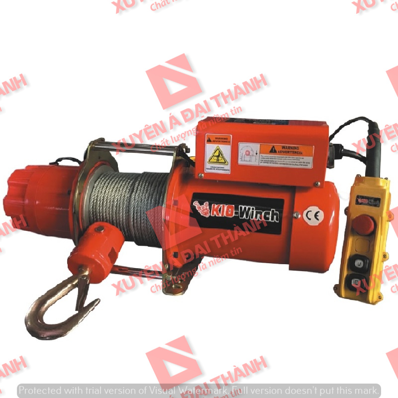 Tời điện 200kg REMOTE 24V 1 pha Đài Loan KIO Winch GRV-200