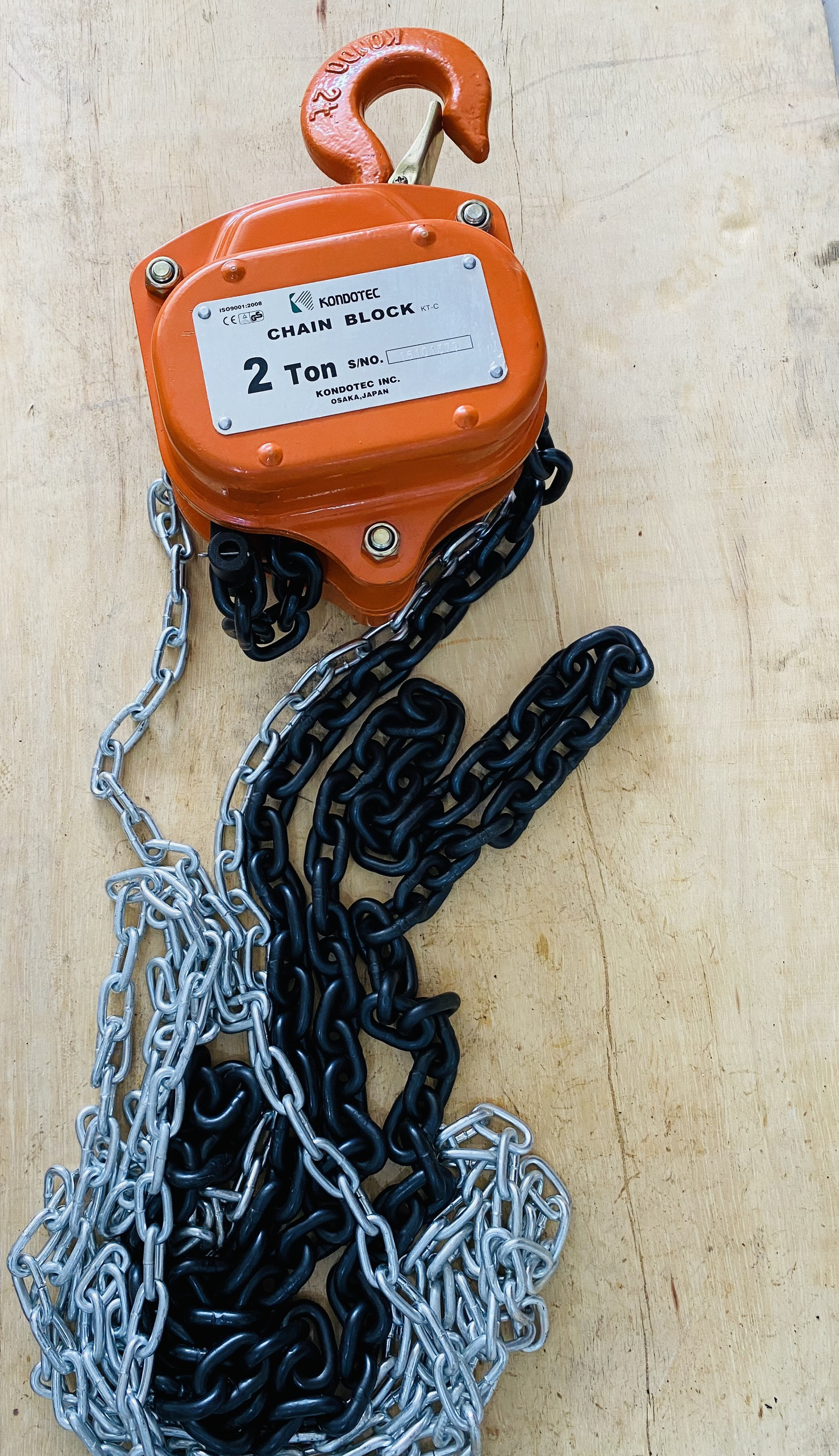 Palang Xích Kéo Tay 2 tấn Kondotec- Nhật Bản