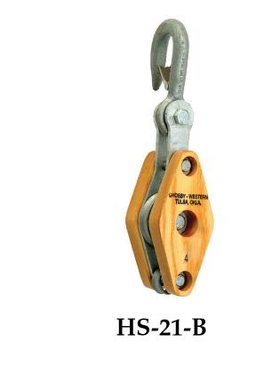 Ròng rọc (1-2.5 tấn)- Crosby-USA HS-21-B/P-303-B