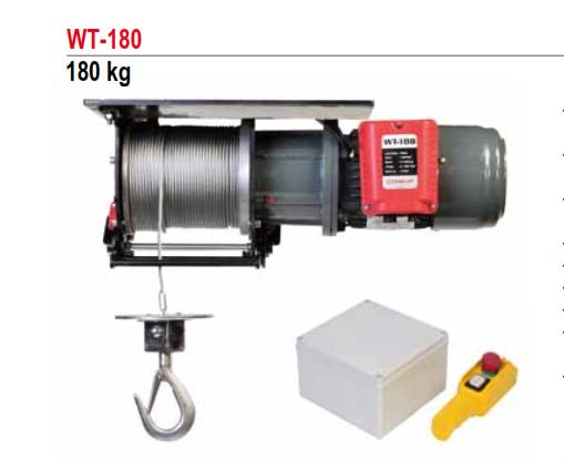 Tời Cáp Điện COMEUP Đài Loan Loại 180KG WT-180